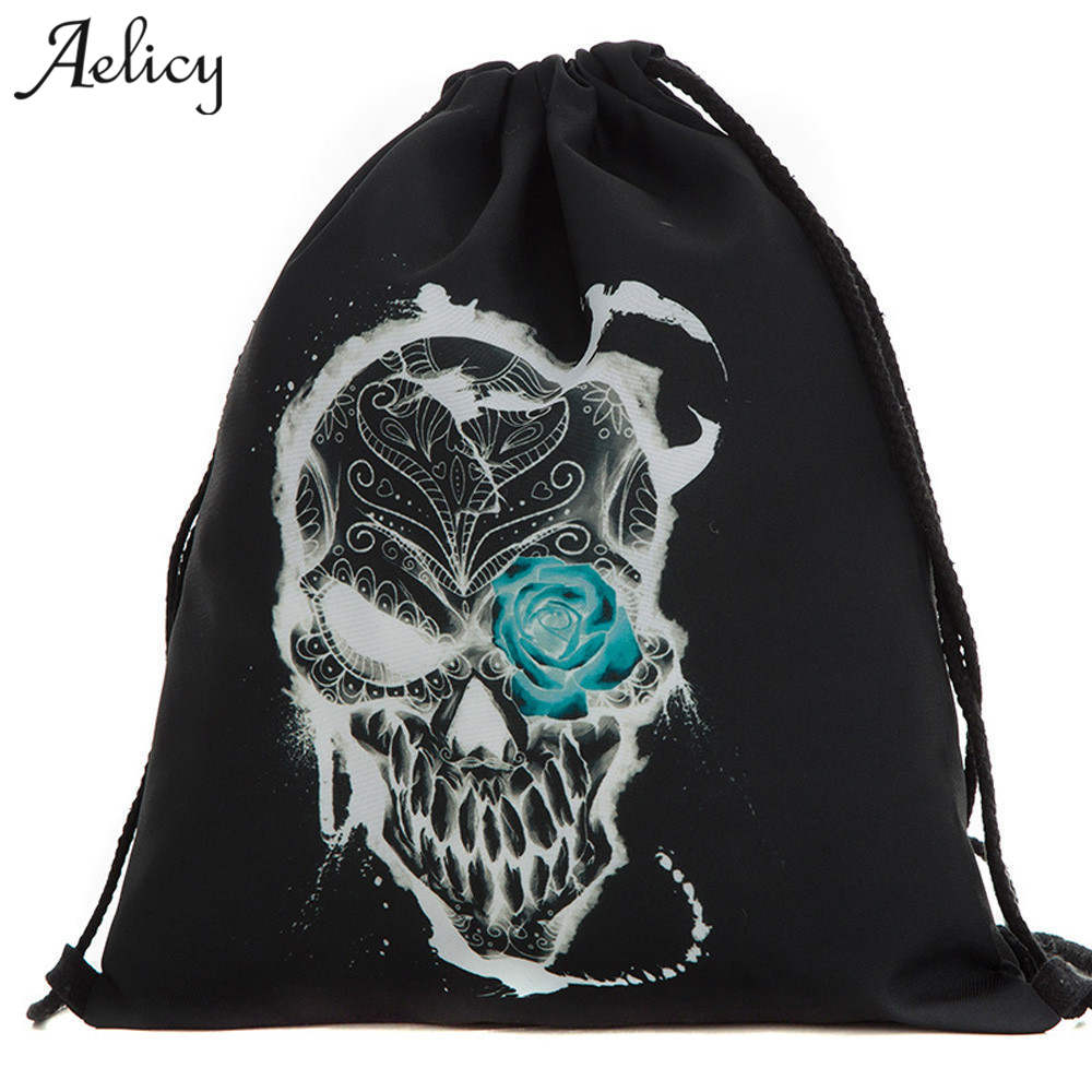 Aelicy Fashion Backpack Unisex Backpacks 3D Printing Bags Drawstring Backpacks for Teenage Girls School Backpack Travel Bag