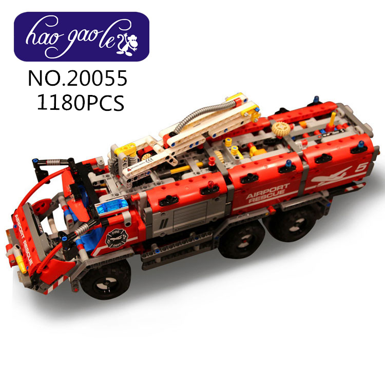 20055 1180pcs Technic Mechanical Series Rescue Vehicle Building Blocks bricks model DIY Educational Toys children gift 42068 cmos штатная камера заднего вида avis avs312cpr 103 для volkswagen beetle