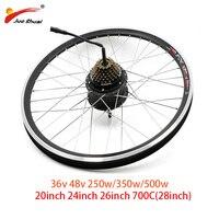 36 v 48 v 250 w 350 500 bicicleta elétrica roda do motor traseiro bicicleta elétrica motor sem escova 26