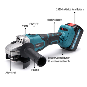 Image 4 - Protable Electric Angle Grinder Cordless Power Cutting Tool + 128tv/29800 lithium battery Rechargeable Power Tool Grinder