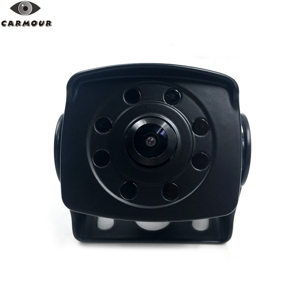 CARMOUR 8 Led Waterproof Night Vision Wide Angle Rear View Backup AHD Camera for Bus Truck Van Trailer RV factory truck bus camera ahd ccd rear view camera 24v truck camera iveco isuzu truck van trailer buses waterproof camera