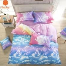 ФОТО 2017 sky clouds fashion  3pcs include 2pillowcase+duvet cover  pillow case 19