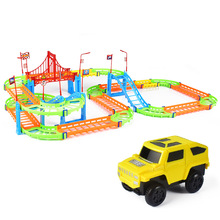 DIY Multi-Track Rail Car Electronic Racing Car Track Kids Toy Childrens Game Boys Xmas Gift Rail Building Block Children Toys mylitdear electric racing rail car kids train track model toy railway track racing road transportation building slot sets toys