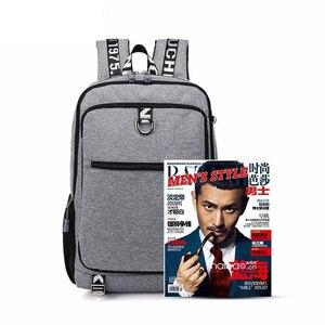 Image 2 - Erkek sırt çantası erkek su geçirmez USB şarj seyahat okul spor sırt çantası oxford rahat dizüstü sırt çantası rahat erkek çanta paketi
