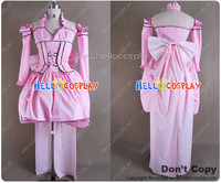 Japanese Anime Outfit Chobits Cosplay Costume Chii Pink Dress H008