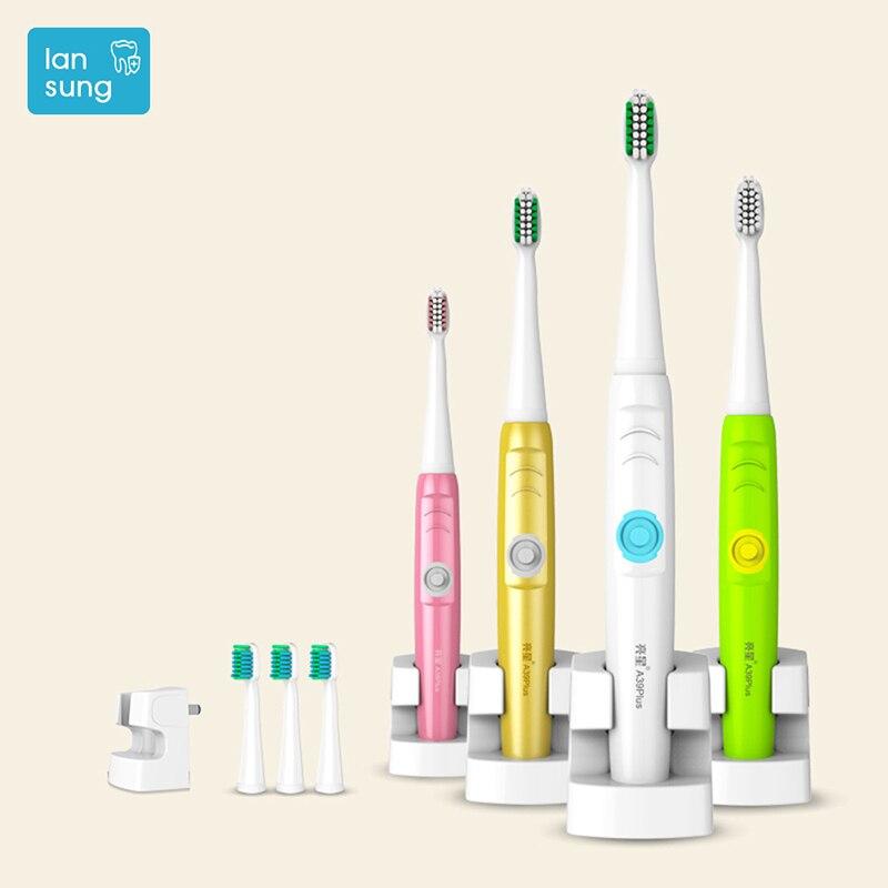 LANSUNG A39 PLUS électrique brosse à dents Électrique Oral Brosse À Dents Rechargeable Sonic brosse à dents électrique brosse à dents dents 4