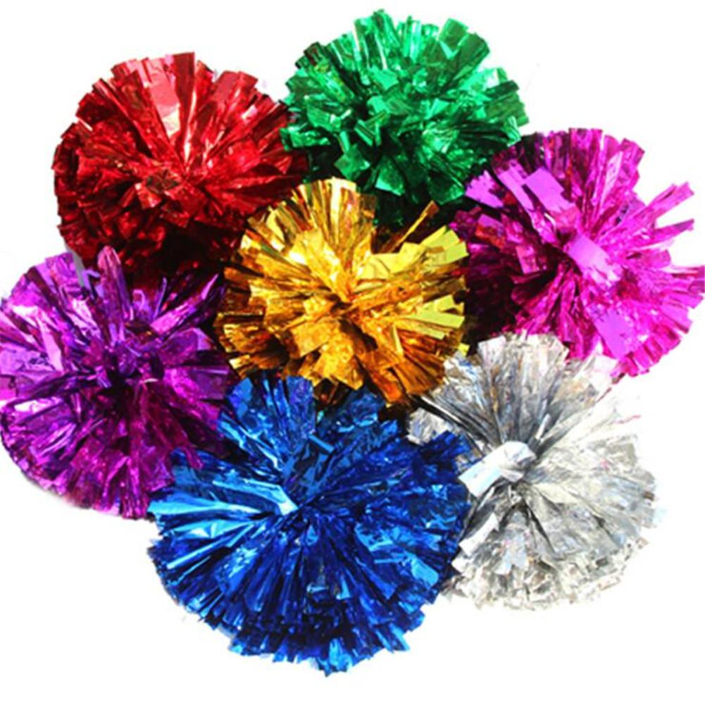 HobbyLane Game Cheerleader Cheerleading Pom Poms Cheerleading Pompoms Cheer Pom Majorettes Hand Flower Aerobics Balls Sports