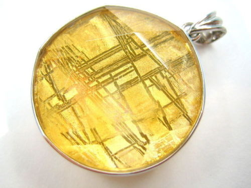 Stone Beads Natural Gibeon Iron Meteorite Gemstone Gold Plated Star of David Pendant