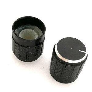 Image 5 - 500 個 15*17 ミリメートルアルミ合金ポテンショメータノブロータリースイッチボリュームコントロールノブ黒