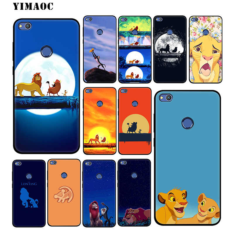 YIMAOC The Lion King Cartoon Soft Case for Huawei Mate 20 10 P30 P20 Pro P10 P9 P Smart Z 2019 & Nova 3 3i Lite for P30 Lite