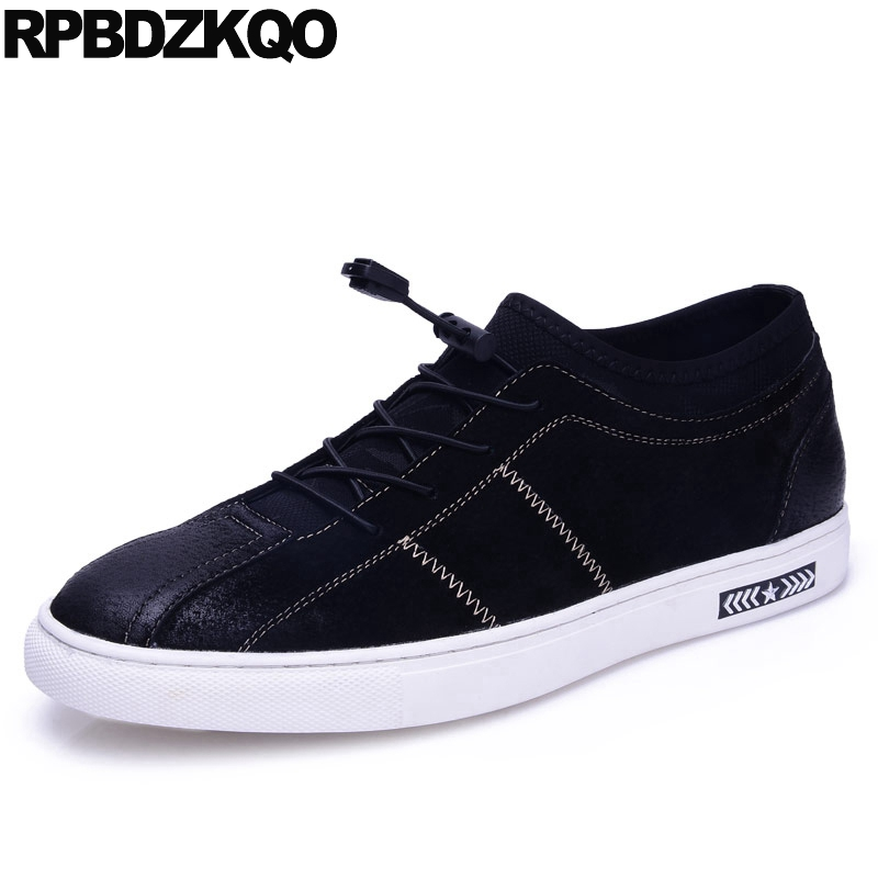 Slip Resistant Comfort Skate Walking Black Trainers Casual Breathable Flats Men Shoes Sneakers 2017 Fashion Autumn Stylish Hot vik max artificial wool lining figure skate shoes hot ice skate shoes classical black figure skate shoes