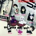 Min Order $5(Mix Order)  Acrylic costumes Badge HARAJUKU Cute woman brooches Pin up fashion lady Broche Epaulette XZ31