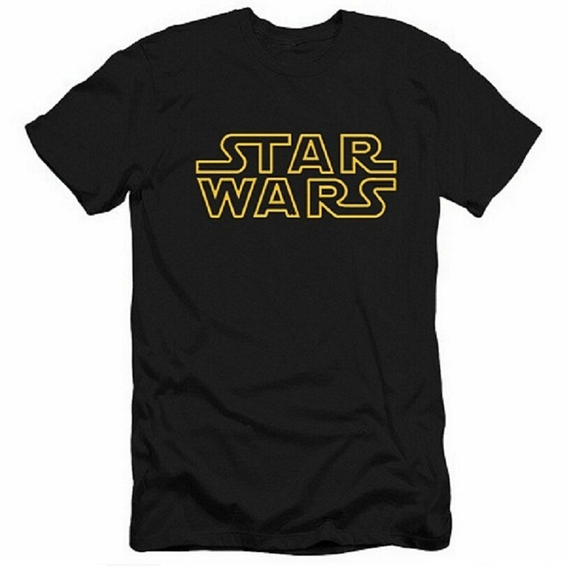 STAR WARS T shirt Casual Letter Printed Top Quality Short Sleeve Cotton T-shirts Tees Shirts