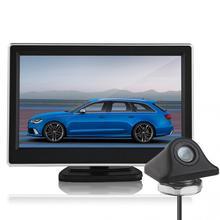 CALIENTE de 5 Pulgadas 480×272 Píxeles TFT LCD de Panel Digital Color coches Vista Trasera del Monitor + 170 Grados de Visión Nocturna cámara de Visión Trasera cámara