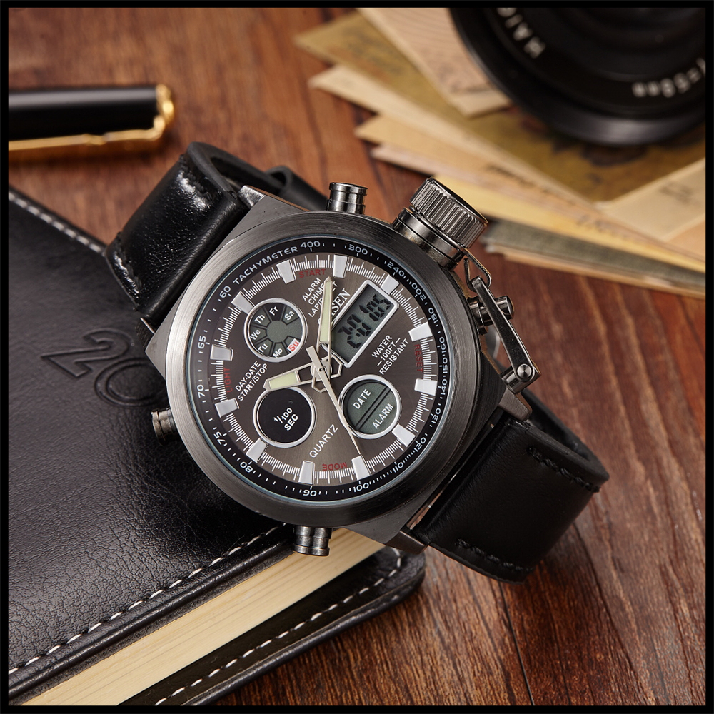 Hot Selling Original Famous Brand OHSEN Digital Sport Mens Watch Male Clock Nylon Band Fashion Diving Wristwatches For Men Gift (23)