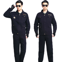 Unisex Work Wear Sets Protective Clothing Long Sleeve Coveralls High Quality Overalls Engineering Service Uniform for Workshop(China)