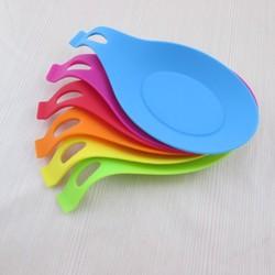 Akcesoria kuchenne gadżety łyżka silikonowa mata spożywcza wysokotemperaturowa zastawa stołowa z poduszką na łyżkę
