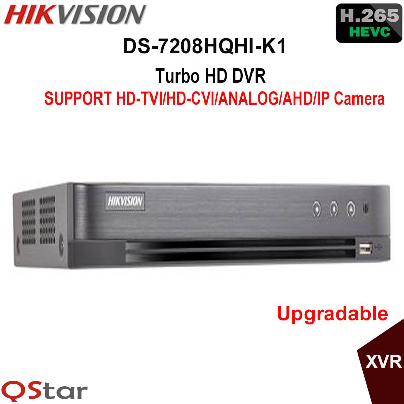 Hikvision H.265 Turbo HD DVR DS 7208HQHI K1 replace DS 7208HQHI F1/N support HDTVI/HDCVI/AHD/Analog/IP Camera Up to 3MP record