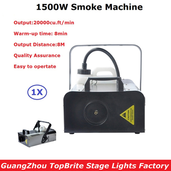 цена на Professional DMX Stage Smoke Machine 1500W Fog Machine With Remote Control 110-240V Party Dj Disco Lighting Shows Equipments