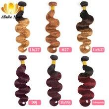 Ali Afee Hair Products Brazilian Body Wave 1 Pc 100% Human Hair Natural Black 100g Hair Weaving 8''-30'' цены онлайн