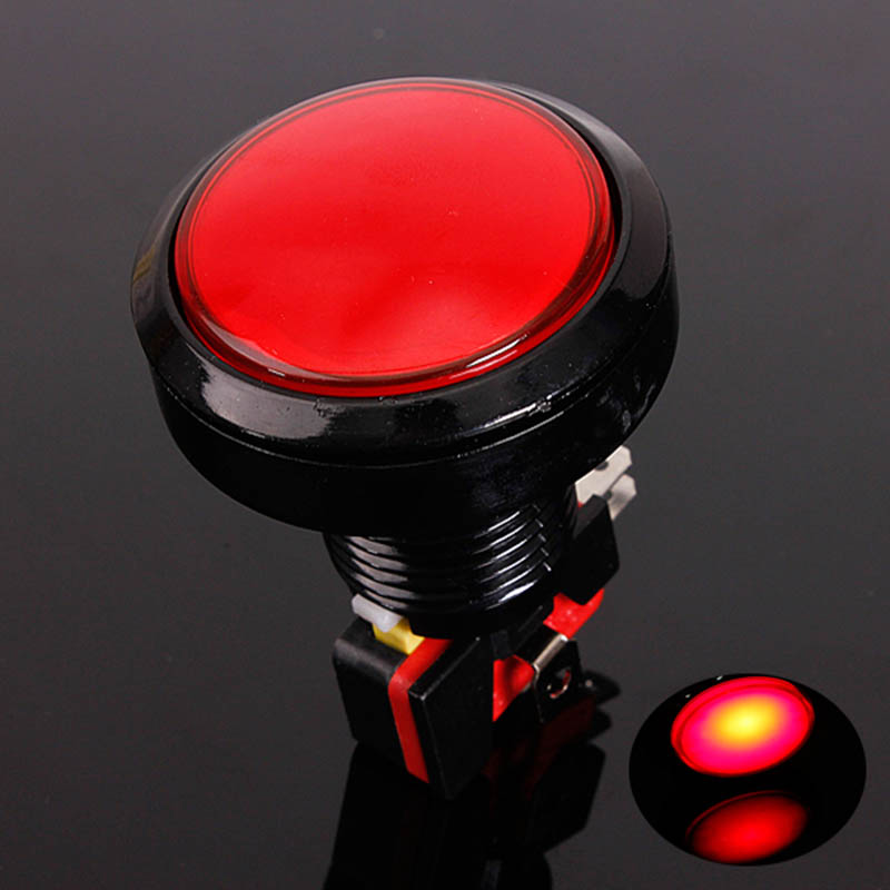 Mayitr 12V LED Light Lamp 45MM Round Colorful Button For Video Game Player Push Button Set