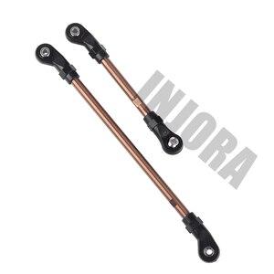 Image 4 - INJORA 10Pcs/Set Metal Unassembled Link Set Plastic Rod End for 1/10 RC Crawler 324mm Wheelbase Traxxas TRX4 TRX 4