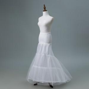 Image 3 - JaneVini 2018 White Tulle Underskirt Bustle Petticots Bride Mermaid Crinoline Net Petticoat Wedding Accessories Jupon 3 Cerceaux