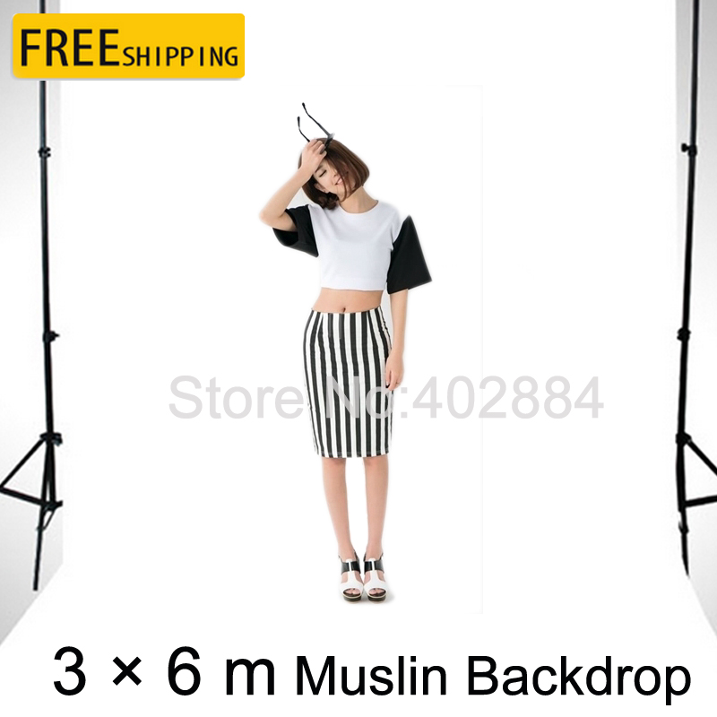 Free Tax To Russia Professional Photography Equipment 3*6M White Photo Backdrop Cloth Muslin Background for sale free tax to russia new photographic equipment diamond cloth background backdrop new 3 6m muslin background cloth black