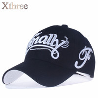 Xthree 100 Cotton Baseball Cap Women Casual Snapback Hat Casquette Homme Letter Embroidery Gorras