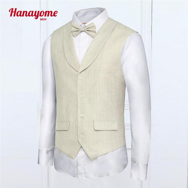 2016 recién llegado de Mens traje de caballero británico traje chaleco con cuello en V vestido de traje Slim Fit chaleco chaqueta chaleco sin mangas colete social