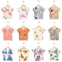 TinyPeople/Новинка года; модная футболка для малышей; летняя одежда для мальчиков; милое хлопковое пальто с короткими рукавами и рисунком для девочек; детская одежда в подарок