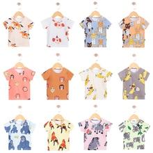 T-Shirt Tinypeople Baby Cotton Girls Boys Short Print Fashion Coat Gift Kid Cartoon Summer