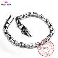 S925 Solid Thai Silver Chain Bracelets 925 Sterling Silver Jewelry Buddha Bracelet for Women Wristband Men Vintage Width 5 8mm