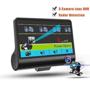 Detector de Radar 2 en 1 para coche, cámara DVR de 4,0