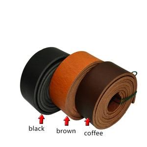 Image 2 - 純粋な革ベルトブレスレットレザースポットストリップ4ミリメートル厚さ140センチメートル長
