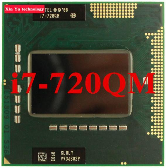 Core i7 720QM 1.6GHz 6M Four nuclear eight threads 720 Notebook processors Laptop CPU PGA 988 pin Socket G1