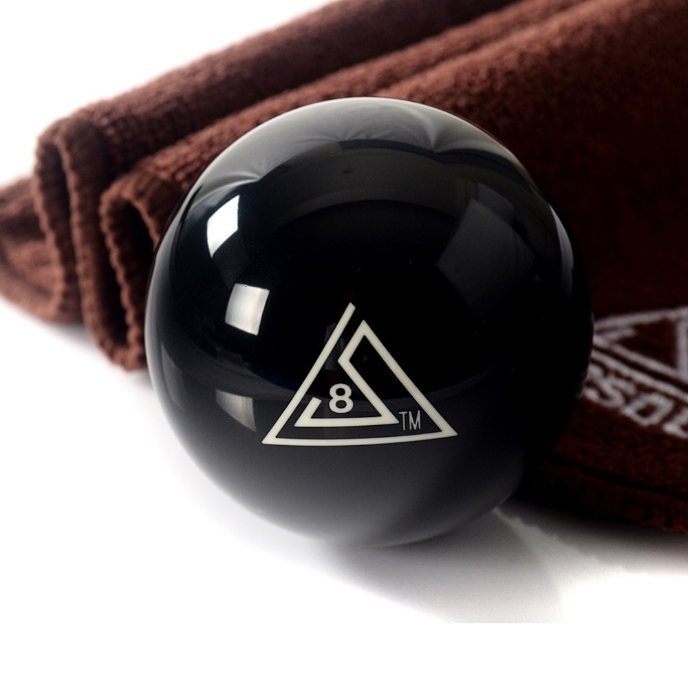 Free Shipping BC003 1pcs Cuesoul Durable Pro Cup Resin 2 1/4 6oz Billiard Snooker Pool Table Black 8 Ball With Clean Cue Towel
