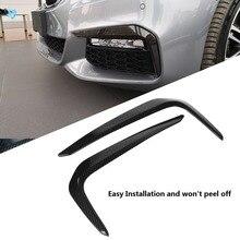 2 шт. карбоновое волокно стиль автомобиля передняя противотуманная фара для бровей веко крышка Накладка наклейки для BMW 5 серия М Спорт G30 2017-2018