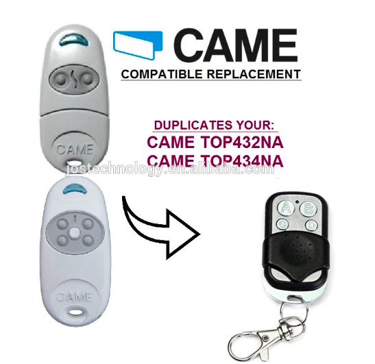 CAME TOP432NA Duplicator 433.92 mhz remote control Universal Garage Door Gate Fob Remote Cloning 433mhz Transmitter 433 868 315 mhz garage door remote control presentation universal car gate cloning rolling code remote duplicator opener key fob