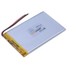 355590 3.7V 1600mAh li-Polymer Li-ion Rechargeable Battery For GPS PSP ipod Tablet PC iPAQ  E-book Power bank MID DIY 035590