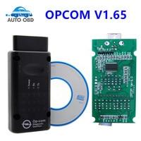 OP com V1.59 1.65 1.70 com PIC18F458 Chip Ferramenta de Diagnóstico para Ferramenta De Diagnóstico para opel Opcom Can OBD2 OBDII Scanner ferramenta