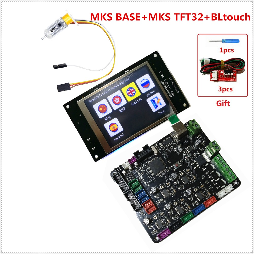 3d printer starter kit mother board MKS BASE + MKS TFT32 touch screen + BLtouch bed leveling sensor imprimante control panel 3d printer kit motherboard mks base mks tft32 touch screen all in one controller starter kits imprimante reprap control panel