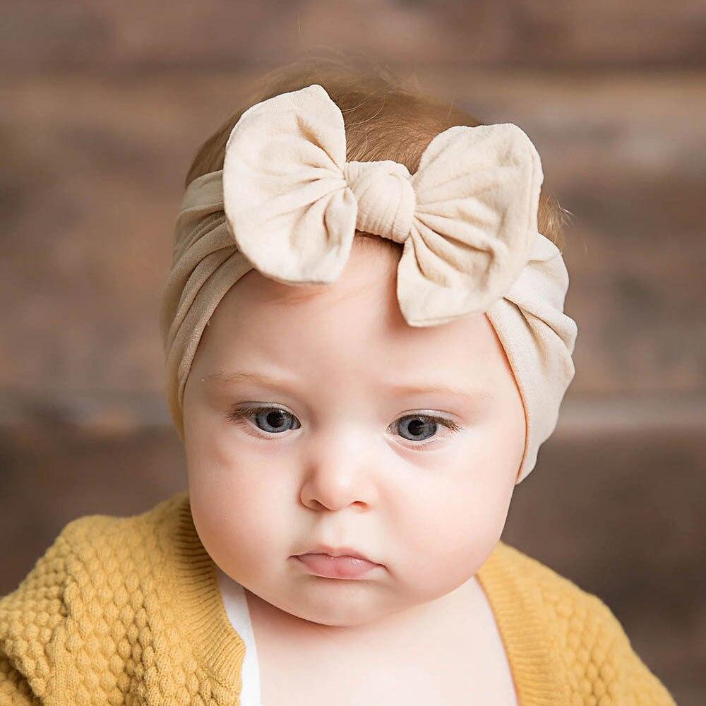 New Baby Nylon Headband Soft Rabbit Bowknot Turban Hair Bands For Children Girls Elastic Headwrap Hair Accessories Head Band