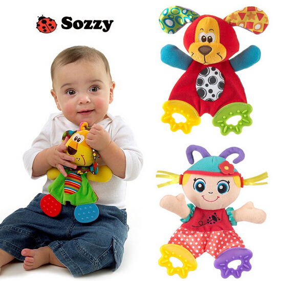 Baby Toys Preferred Appease Towel Toy Infant Baby Playmate Calm Doll Baby Rattle Dog Lion Girl Free Shipping SZ13