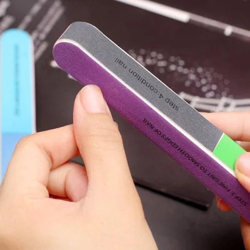 Hexagonal scrub nail fillet fake nail polished bar grinding ...