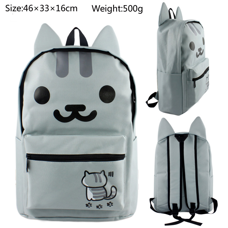 Cute Cat / Neko Atsume Backpacks Children Cartoon Canvas School Backpack for Teenagers Men Women Bag Kids Mochila Laptop Bags kitty cat backyard neko atsume backpack comic periphery dual portable canvas shoulders bag cartoon accessory kids anime gift