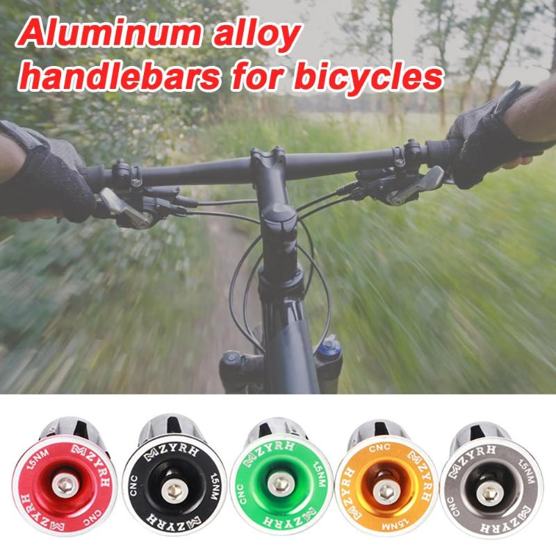 1 Pair Bike Handlebar End Plug Aluminum Durable Bicycle Handlebar Cap Grips Cycling Bar Grips Caps Covers Bicycle Accessories