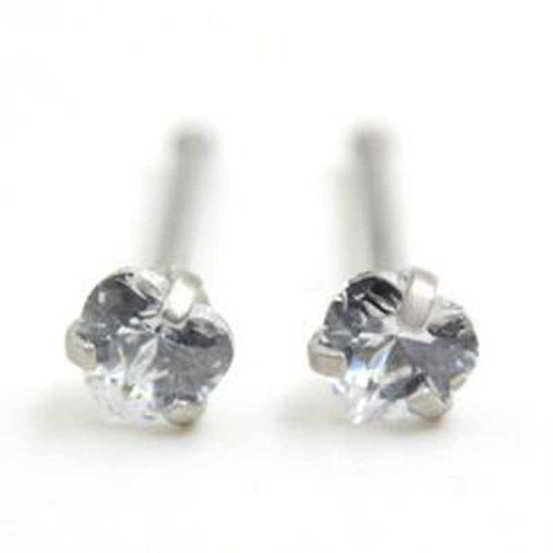 2 Piece 20Gx7x3mm Stainless Steel Clear Heart Zircon Nose Ring Ear Cartilage Wrap Ring Tragus Earring Piercing Jewelry 1.0mm 18G