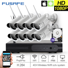 FUSAFE 8CH 1080P HDMI NVR Outdoor Weather proof P2P CCTV Wireless IP Camera Security System Surveillance Kit 1TB HDD
