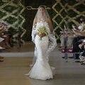 Branco/Marfim Véu Do Casamento Catedral Com Pente 3 M Longo Mantilla Do Laço Nupcial Acessórios Véu Com Flores Véu De Noiva